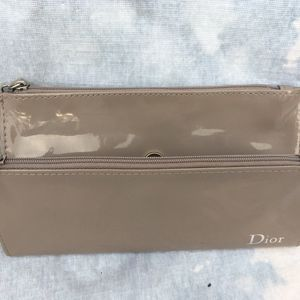 Dior patent leather nude cosmetic bag/small clutch